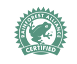 Gorilla Coffee Rainforest Alliance certification