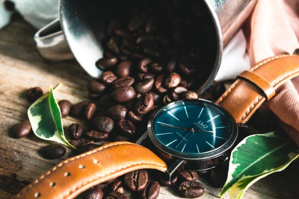 kawa i zegarek