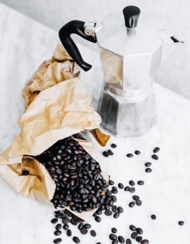 torebkla kawy i kawiarka