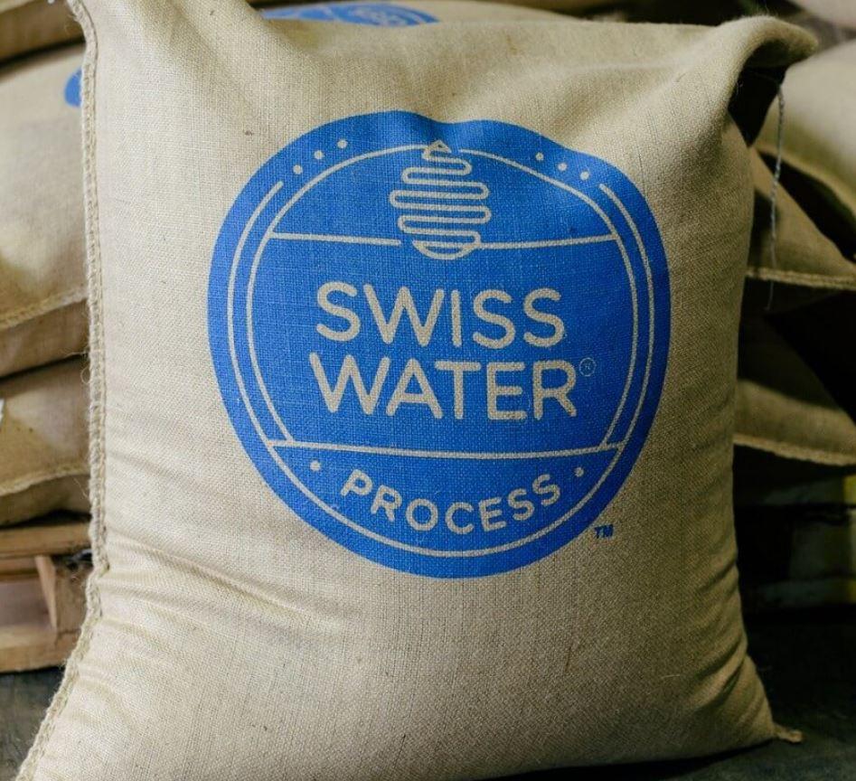 wór z kawą bezkofeinową marki Swiss Water