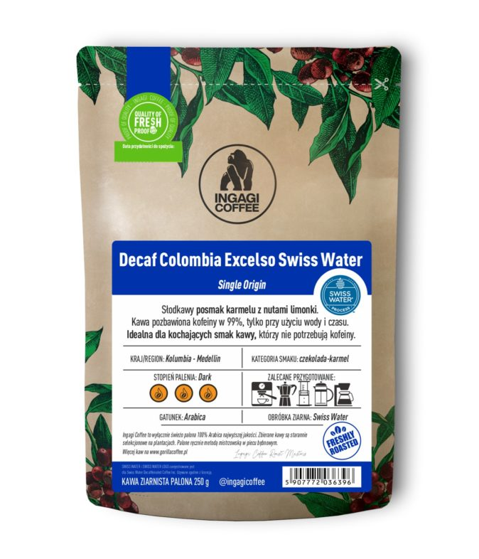 Kawa Decaf Colombia Excelso Swiss Water