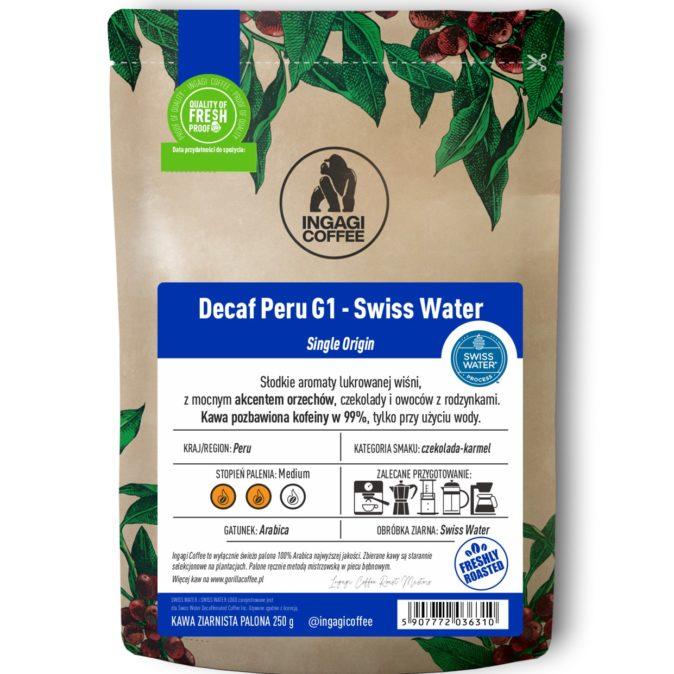 Kawa Decaf peru G1 Swiss Water